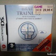 Videojuegos y Consolas: BRAIN TRAINING. NINTENDO DS. COMPLETO.. Lote 119387511