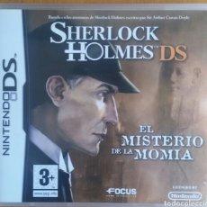Videojuegos y Consolas: SHERLOCK HOLMES EL MISTERIO DE LA MOMIA - NINTENDO DS. Lote 121964242