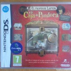 Videojuegos y Consolas: EL PROFESOR LAYTON Y LA CAJA DE PANDORA - NINTENDO DS. Lote 121966507