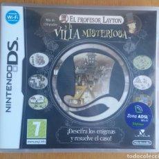 Videojuegos y Consolas: EL PROFESOR LAYTON Y LA VILLA MISTERIOSA - NINTENDO DS. Lote 121967110