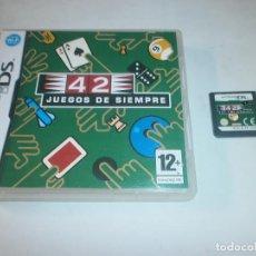 Videojuegos y Consolas: 42 JUEGOS DE SIEMPRE NINTENDO DS PAL ESPAÑA COMPLETO . Lote 121973519
