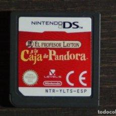 Videojuegos y Consolas: JUEGO EL PROFESOR LAYTON Y LA CAJA DE PANDORA NINTENDO DS ESPAÑOL - SÓLO CARTUCHO -. Lote 135713875
