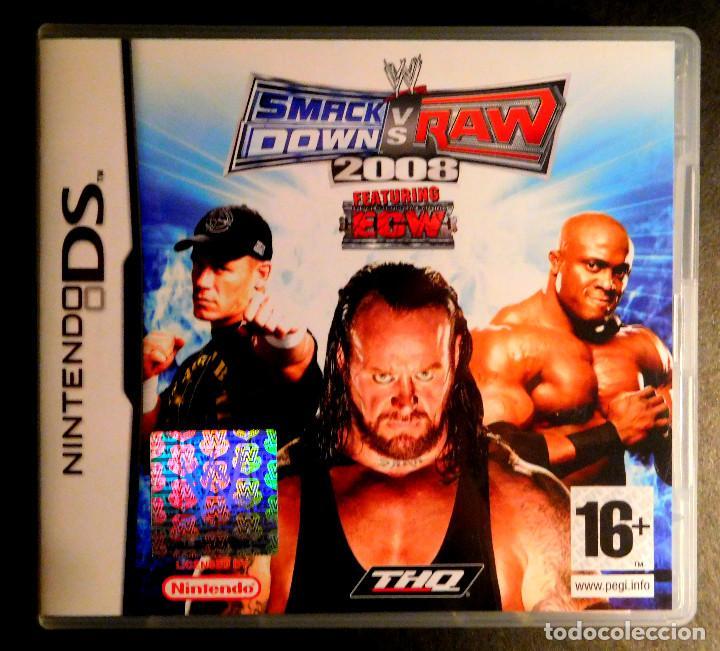 NINTENDO DS JUEGO SMACK DOWN VS RAW 2008 - MUY BUEN ESTADO (Juguetes - Videojuegos y Consolas - Nintendo - DS)