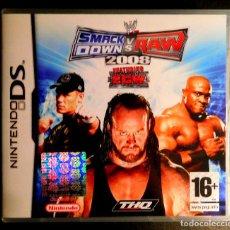 Videojuegos y Consolas: NINTENDO DS JUEGO SMACK DOWN VS RAW 2008 - MUY BUEN ESTADO. Lote 127968311