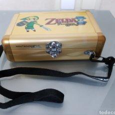 Videojuegos y Consolas: CAJA ALUMINIO PARA NINTENDO DS ZELDA 18X12X5CM. Lote 131840886