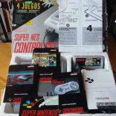 Videojuegos y Consolas: CONSOLA SUPER NINTENDO CON JUEGO MARIO ALL STARS Y 2 MANDOS, COMPLETA. Lote 132805979