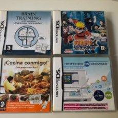 Videojuegos y Consolas: LOTE COMPUESTO POR 4 JUEGOS PARA NINTENDO DS. Lote 136129029