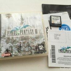 Videojogos e Consolas: FINAL FANTASY III FF 3 NDS NINTENDO DS KREATEN VIDEOJUEGO. Lote 140497530