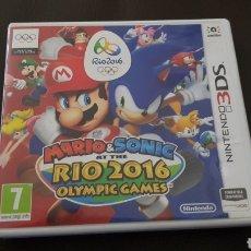 Videojuegos y Consolas: CAJA VACIA NINTENDO DS MARIO & SONIC AT THE RIO 2016 OLYMPIC GAMES. Lote 141754564