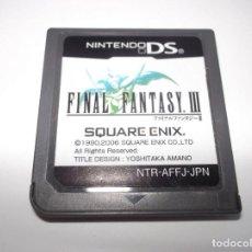 Videojuegos y Consolas: DS FINAL FANTASY III JAPONES NDS 3DS ORIGINAL. Lote 143905578