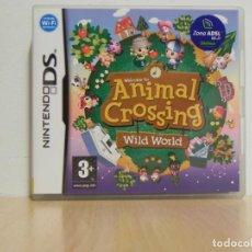 Videojuegos y Consolas: ANIMAL CROSSING WILD WORLD CAJA CARTUCHO Y MANUAL DE INSTRUCCIONES NINTENDO DS ORIGINAL . Lote 150545110