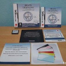 Videojuegos y Consolas: BRAIN TRAINING NINTENDO DS ORIGINAL EN PERFECTO ESTADO.COMPLETO SIN USO.. Lote 151630194