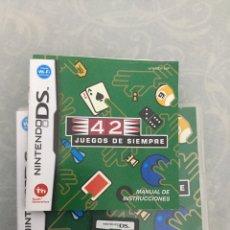 Videojuegos y Consolas: JUEGO DE NINTENDO DS 42 JUEGOS DE SIEMPRE COMPLETO CON MANUALES. Lote 154898501