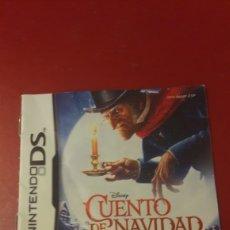 Videojuegos y Consolas: 8NTRUCCIONES JILUEGO NINTENDO DS CUENTO NAVIDAD DISNEY. Lote 156624774