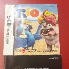 Videojuegos y Consolas: NINTENDO DS MSNUAL DE INSTRUCIONES RIO. Lote 156624944