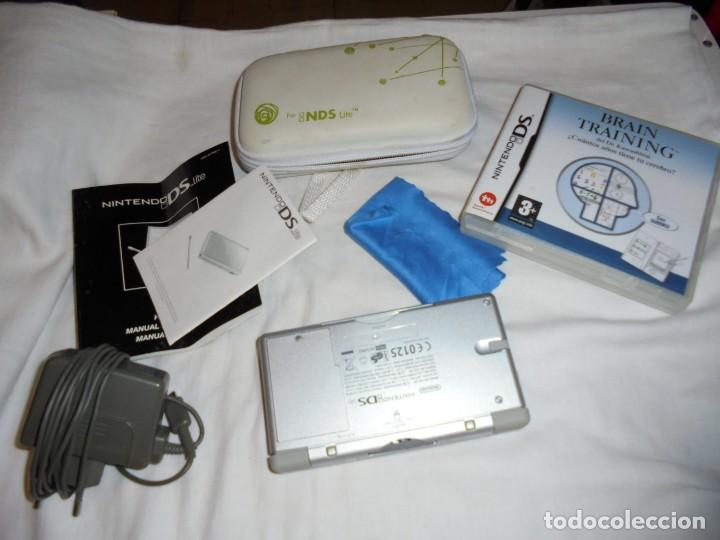 CONSOLA NINTENDO DS LITE FUNCIONANDO.CON FUNDA CARGADOR JUEGO BRAIN TRAINING (Juguetes - Videojuegos y Consolas - Nintendo - DS)