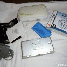 Videojuegos y Consolas: CONSOLA NINTENDO DS LITE FUNCIONANDO.CON FUNDA CARGADOR JUEGO BRAIN TRAINING. Lote 159578822