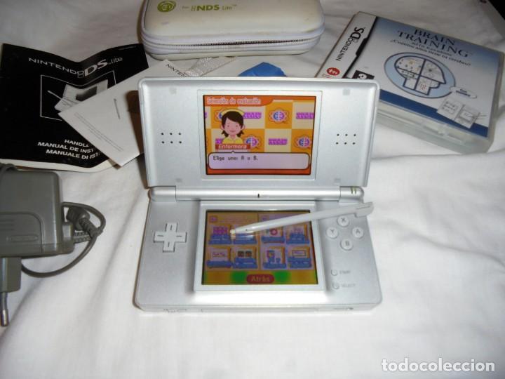 Videojuegos y Consolas: CONSOLA NINTENDO DS LITE FUNCIONANDO.CON FUNDA CARGADOR JUEGO BRAIN TRAINING - Foto 3 - 159578822