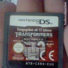 Videojuegos y Consolas: TRANSFORMERS NINTENDO DS CARTUCHO ORIGINAL FUNCIONANDO NTR-CXRX-EUU. Lote 159660570