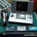 Videojuegos y Consolas: NINTENDO DS PACK CONSOLA + 3 JUEGOS. Lote 161325146