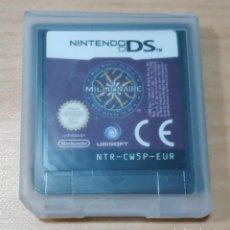 Jeux Vidéo et Consoles: JUEGO DE NINTENDO DS , QUIEN QUIERE SER MILLONARIO , WHO WANTS TO BE MILLIONAIRE EUR , SOLO CARTUCHO. Lote 166789950