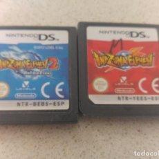 Videojuegos y Consolas: LOTE 2 JUEGOS INAZUMA ELEVEN DS NINTENDO DS NDS 3DS PAL-ESPAÑA. Lote 220572730
