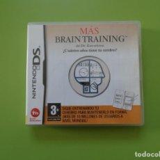 Videojuegos y Consolas: MÁS BRAIN TRAINING NINTENDO DS. Lote 168820208