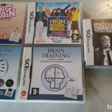 Videogiochi e Consoli: LOTE DE 5 JUEGOS MINTENDO DS - HOTEL DUSK - HIGH SCHOOL - BIG BRAIN - TRAINING EYES Y BRAIN. Lote 172682120