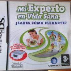 Videojuegos y Consolas: JUEGO MI EXPERTO EN VIDA SANA CON PODÓMETRO PARA NINTENDO DS. Lote 190765566