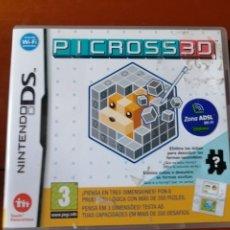 Videojuegos y Consolas: JUEGO PICROSS 3D PARA NINTENDO DS. Lote 190802706