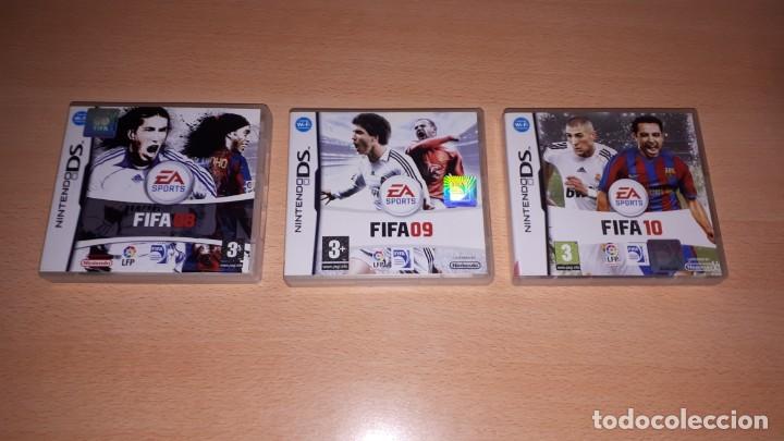 3 JUEGOS NINTENDO DS FIFA 08-09-10 (Juguetes - Videojuegos y Consolas - Nintendo - DS)