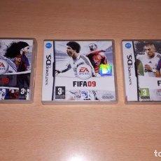 Videojuegos y Consolas: 3 JUEGOS NINTENDO DS FIFA 08-09-10. Lote 194236738