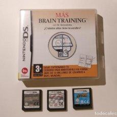 Videojogos e Consolas: LOTE DE 4 JUEGOS PARA NINTENDO DS - MARIO KART - MIND QUIZ - HOTEL DUSK - BRAIN TRAINING.. Lote 197072466