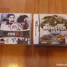 Videojuegos y Consolas: JUEGOS FIFA 08 Y MONSTER JAM PARA NINTENDO DS. Lote 202713797