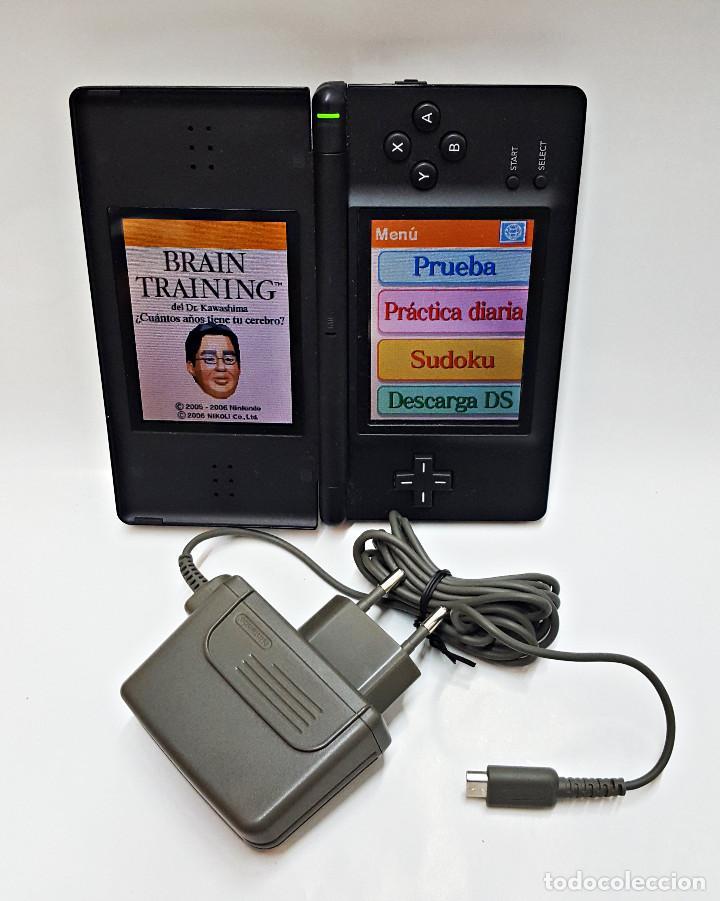 CONSOLA NINTENDO DS LITE. CON CARGADOR Y JUEGO BRAIN TRAINING (Juguetes - Videojuegos y Consolas - Nintendo - DS)