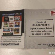 Jeux Vidéo et Consoles: POKEMON BLANCA, TARJETA PUNTOS CLUB NINTENDO, NUEVA POR RASCAR. Lote 204725722