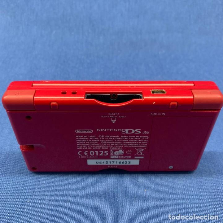 Videojuegos y Consolas: CONSOLA NINTENDO DS LITE ROJA - SIN CABLE - SOLO LA CONSOLA - PROBADA - SI FUNCIONA - Foto 3 - 204814046