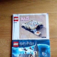 Videojuegos y Consolas: 2 CATALOGOS DE INSTRUCCIONES DE MONTAJE LEGO HARRY POTTER - MAZE. Lote 205547378
