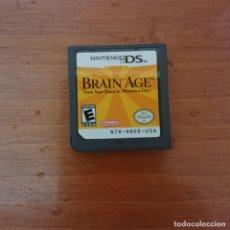 Videojuegos y Consolas: BRAIN AGE NINTENDO DS CARTUCHO. Lote 206336662