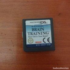 Videojuegos y Consolas: BRAIN TRAINING NINTENDO DS CARTUCHO. Lote 206337100