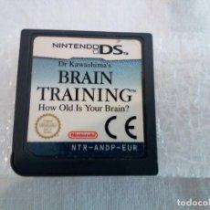 Videojuegos y Consolas: 44-NINTENDO DS BRAIN TRAINING, SIN CAJA. Lote 211657301