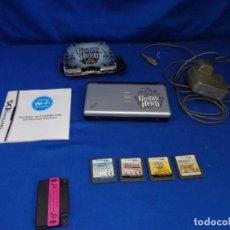 """Videojuegos y Consolas: NINTENDO - DS LITE GUITAR HERO CON CARGADOR Y CUATRO JUEGOS """"FUNCIONANDO"""" VER FOTOS! SM. Lote 213104846"""