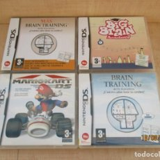 Videojuegos y Consolas: NINTENDO DS 4 CAJAS VACIAS TODAS CON LIBRETO EXCEPTO LA DE BIG BRAIN. Lote 214744635