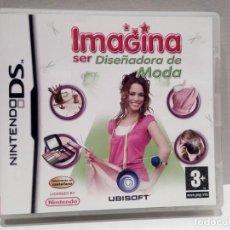 Videojuegos y Consolas: NINTENDO DS - IMAGINA SER DISEÑADORA DE MODA, CAJA. Lote 216650800