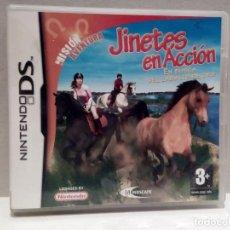 Videojuegos y Consolas: NINTENDO DS - JINETES EN ACCIÓN, CAJA Y MANUAL DE INSTRUCCIONES. Lote 216651125