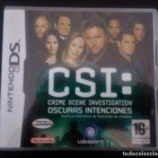 Videojuegos y Consolas: CSI OSCURAS INTENCIONES NINTENDO DS. Lote 216871486