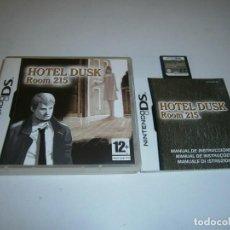 Videojuegos y Consolas: HOTEL DUSK ROOM 215 NINTENDO DS PAL ESPAÑA COMPLETO. Lote 217958488