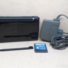 Videojuegos y Consolas: CONSOLA NINTENDO DS LITE NEGRA + JUEGO. Lote 218594427