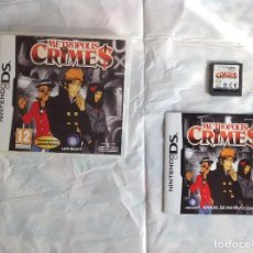Videojuegos y Consolas: METROPOLIS CRIMES DS COMPLETO. Lote 220955448