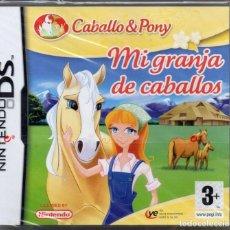 Videojuegos y Consolas: MI GRANJA DE CABALLOS (CABALLO & PONY) - JUEGO NINTENDO DS (PRECINTADO). Lote 222416116